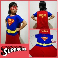 Baju Kostum Topeng (Anak) Cewe - SuperGirl