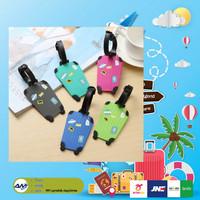 Luggage Tag Label Koper Bagasi Gantungan Tas Travel ID BAGGAGE SILICON