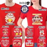 HOT SALE Baju Kaos Warna Dewasa Pria/Wanita/Unisex Design Imlek Umum -