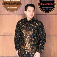 Kemeja Batik Pria KERIS LASEMAN Premium Baju Realpict - M