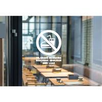 Cutting Stiker Logo Dilarang Membawa Makan Minum Dari Luar Cafe Resto