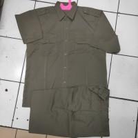 baju seragam pdh satpol PP bahan maxi lengkap dengan bet