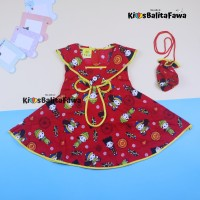 Dress Sanghai Uk Bayi - 5 Tahun (GRATIS TAS) / Baju Imlek Anak Cewek