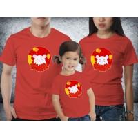 Baju Couple family - Kaos imlek - White rat red