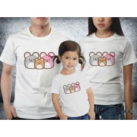 Baju Couple family - Kaos imlek - Rat Family