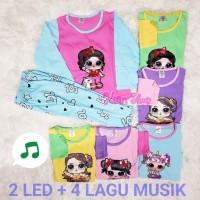 Setelan Anak Tanggung Panjang LOL Musik + LED / Setelan Baju Tidur LOL