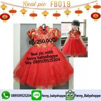 Baju dress FB019 cheongsham tutu