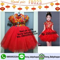 baju dress FB023 cheongsham anak