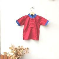 Baju Kemeja Mandarin Cheongsam Imlek Anak Laki Laki warna Merah