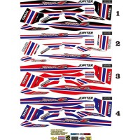 STRIPING VARIASI THAILAND THAILOOK STIKER JUPITER Z OLD FLAG