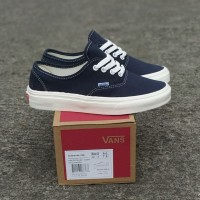 Sepatu Vans Authentic OG Dress Blue Ivory Sneakers Wanita Premium