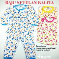 Setelan Baju Bayi / Piyama Bayi Perempuan Lengan Panjang, 3-18 Bulan