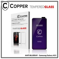 Samsung Galaxy A51 - COPPER Tempered Glass FULL BLUE RAY
