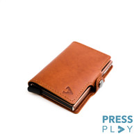 CLASSIC RFID Leather Pop Up Card Case Wallet by Press Play
