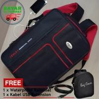 Tas Backpack Laptop 3in1 USB Charger P60 Tas Pria Tas Ransel Pria Ori