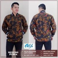 Jaket Batik Pria Terbaik Motif Relung Puspa Premium Quality Recommend