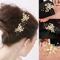 Hiasan Rambut Aksesoris Sanggul Bunga Hair pin Pesta Pengantin H06