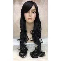 Wig wanita fiber rambut palsu FB061A3 Hitam