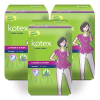 Kotex Liners Longer & Wider Aloe Vera 32s 3 Pack