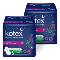 Kotex Healthy Protection Overnight 32 cm 9s 2 Pack