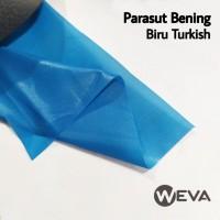 Bahan Kain Jaket Parasut Bening Biru Turkish