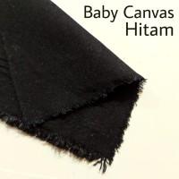 Bahan Kain Baby Canvas Hitam