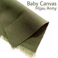Bahan Kain Baby Canvas Hijau Army