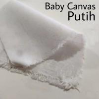 Bahan Kain Baby Canvas Putih