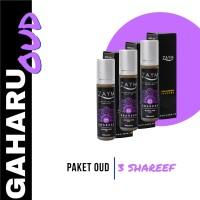 Parfum Non Alkohol Original Zaym Paket Seri Oud Gaharu isi Shareef