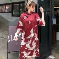 Dress Qipao Merah Baju cheongsam Dewasa Murah Terusan Congsam Sepasang
