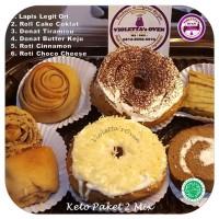 Keto Paket 2 Mix Donat Roll Cake & Lapis Legit