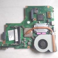 Motherboard Laptop Toshiba C600 Core2 Duo + Prosesor Fan