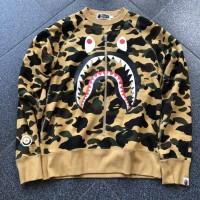 Sweater Crewneck Bape 1st Shark Camo Realzip Original