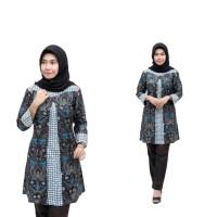 Baju Batik Atasan Wanita Tunik Modern Pekalongan Baju Kerja Kantor