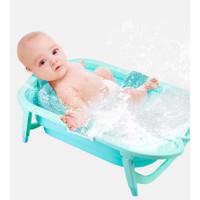 Baby shower net bath net bag keset bayi mandi bersih Z08 - Biru Muda