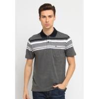 Arnett Baju Pria Polo Shirt Stripe Grey