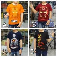 Baju Kaos Anak Laki-laki Iron Man Baru Ukuran 1-8 Tahun