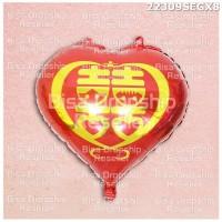 BALON ULANG TAHUN ANNIVERSARY PESTA PARTY IMLEK LOVE MERAH 22309