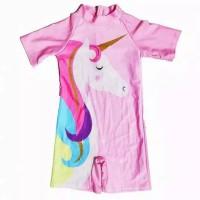Baju renang anak perempuan motif unicorn atau frozen