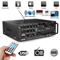 Power Amplifier Karaoke Home Theater FM Radio Bluetooth EQ Audio