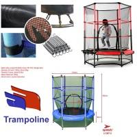 Trampolin Trampoline +Jaring pengaman mainan lompat Anak speeds ori