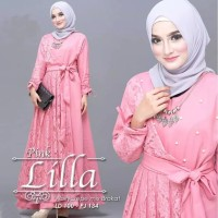 Lilla Maxi Brukat | Baju Gamis Wanita Murah & berkualitas|Dress Muslim