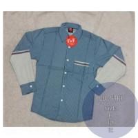 Baju kemeja anak laki lengan panjang branded terbaru 8 -12 th Kode 975