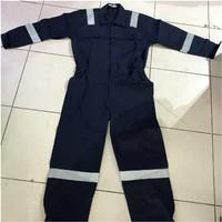 Baju Kerja Safety Wearpack Coveral merek Tommy Biru Dongker