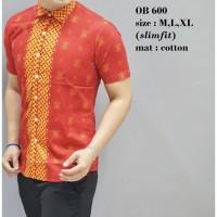 TERLARIS,,, Baju Batik Oriental Pria Kemeja Fashion Imlek Lengan