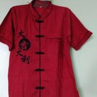 TERLARIS,,, Dijual / Baju/Atasan Imlek Cheongsam Pria Dewasa/katun