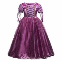 Baju Pesta/Baju Hot Sale Princess Disney Kostum Rapunzel Anak P