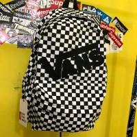 tas bagpack vans checkerboard