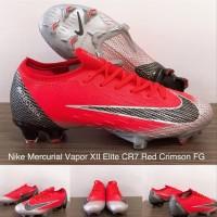 Sepatu Bola Nike Mercurial Vapor Xii Elite Cr7 Red Crimson Fg suku