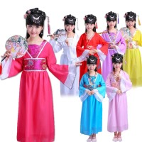 Kostum Menari Oriental Cheongsam Anak Murah Congsam Baju Imlek Merah